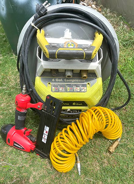 Nailer with air compressor