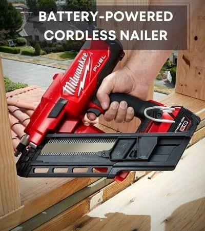 Battery-powered cordless nail guns